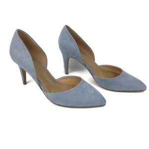 Apt. 9 Caspian D'Orsay Heels in Blue Faux Suede
